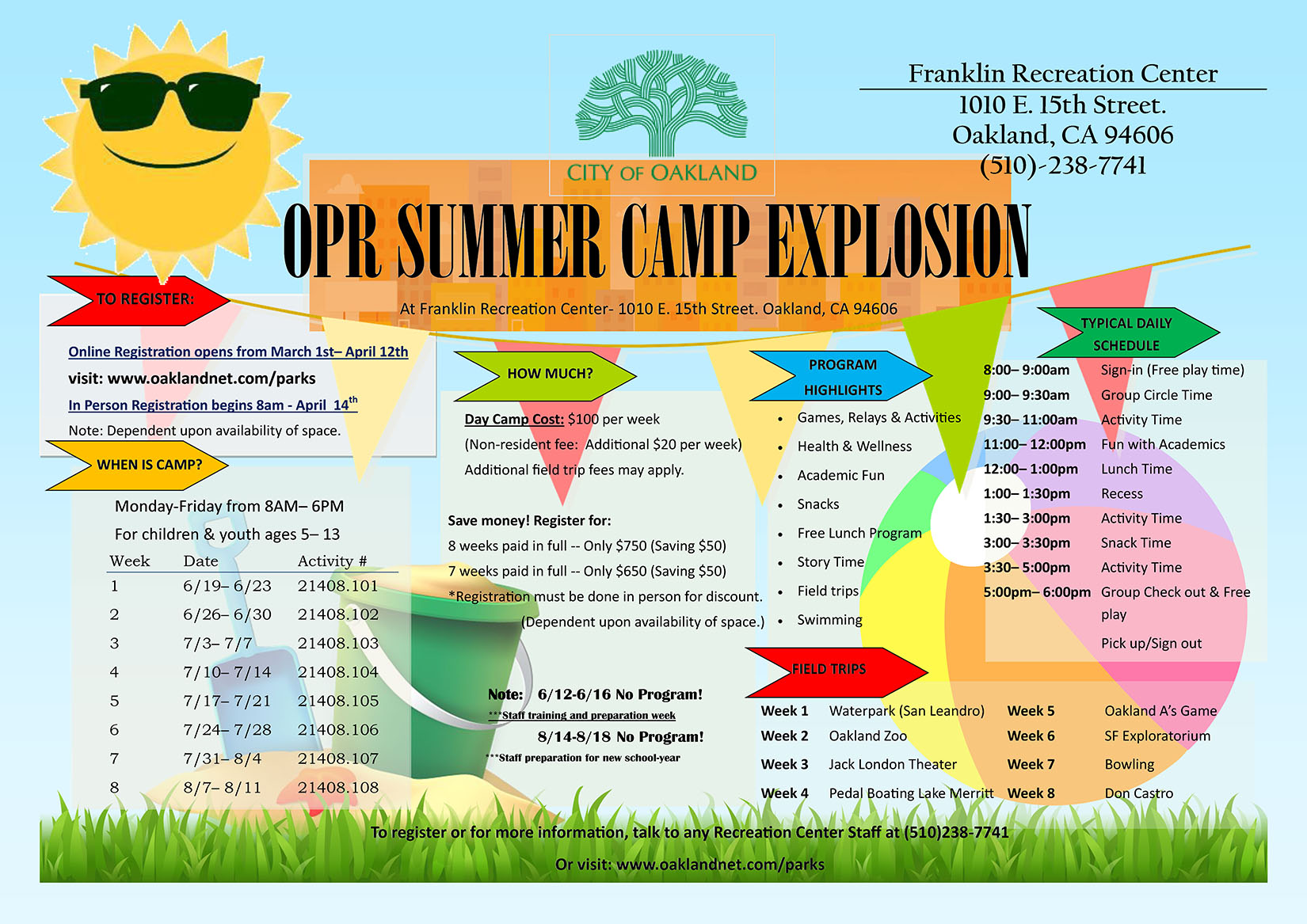 Franklin Summer Camp Flier 2017