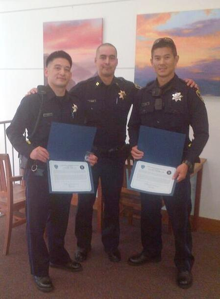 Officers Gunther Lee & Dana Ly Commendations Sept 2013
