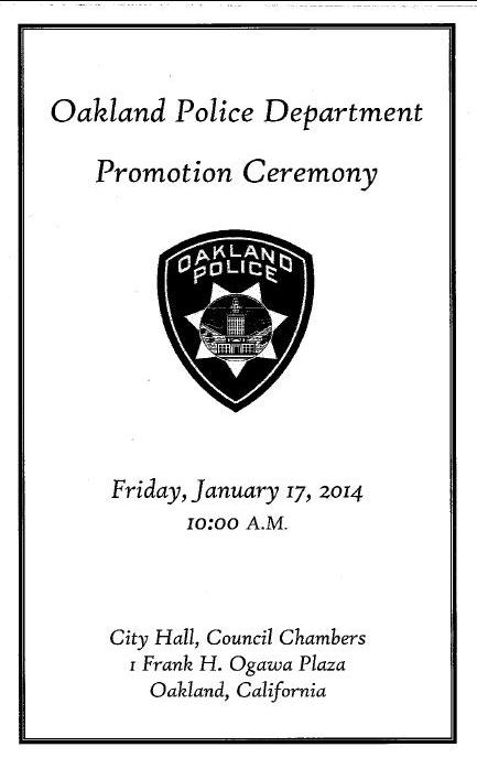 OPD Promotion Ceremony Brochure cover