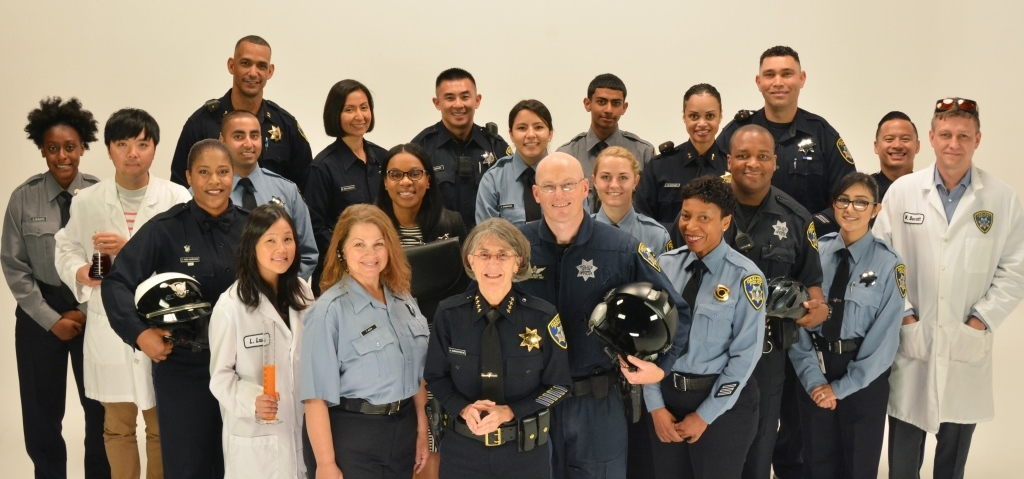 OPD Recruiting photo with Chief Kirkpatrick
