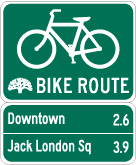 Photo of Bike Wayfinding Signage