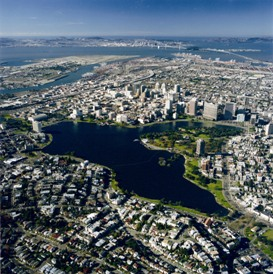 Aerial view of downtown Oakland