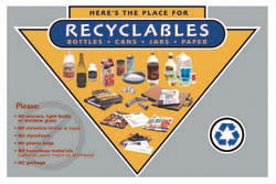 Recycling Cart Label -- Gray