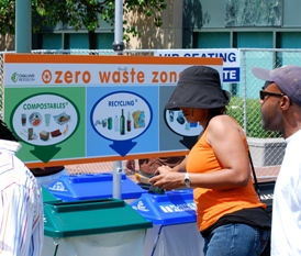 zero waste recycling station at Art and Soul event 2009