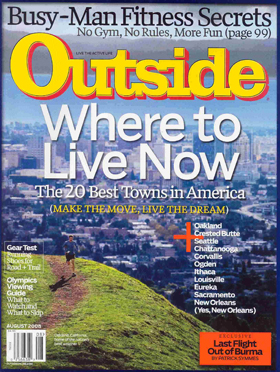 Outside Magazine cover of Oakland