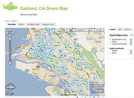 Oakland green map smaller size