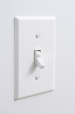 photo of light switch