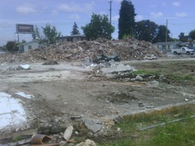 Photo of Demolition at Foothill & Seminary