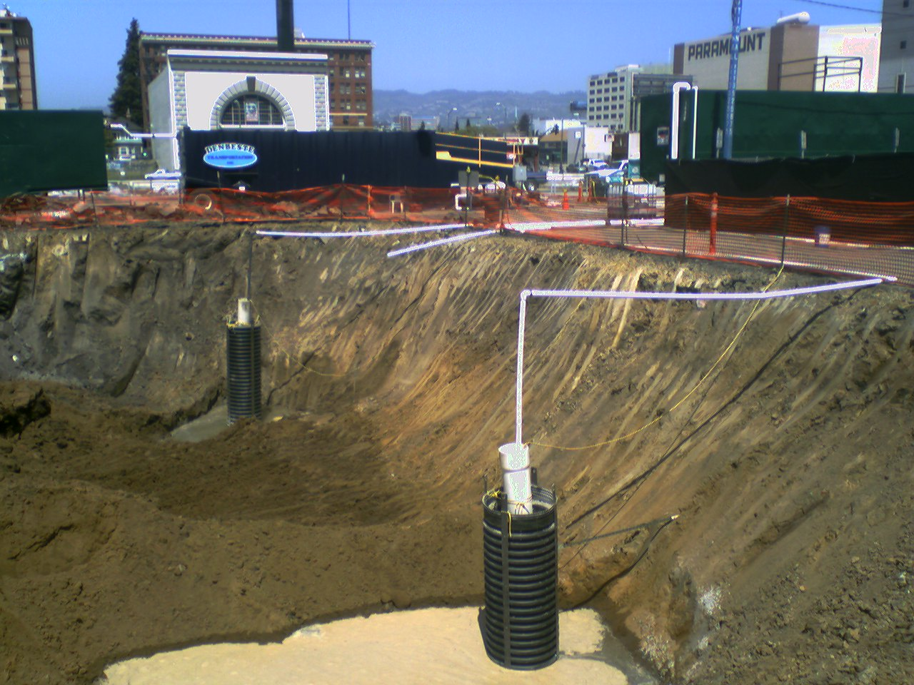 Groundwater extraction system at Uptown cleanup site