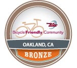 Oakland Bicycle Friendly Community Bronze award