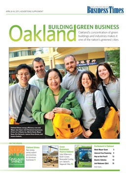 Cover of Green Oakland Insert in SF Biz Times April 2011