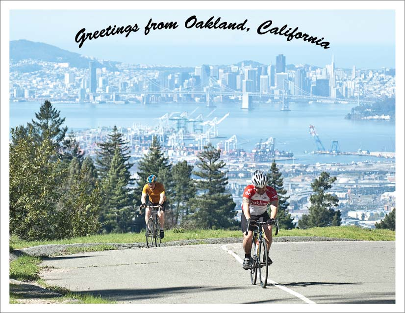 photo of bicyclists on Skyline Blvd