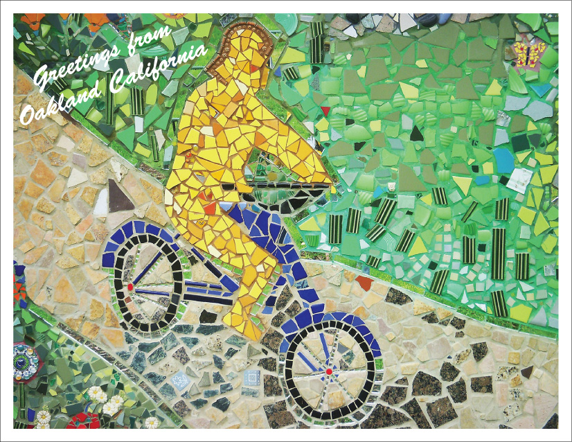 photo of Maxwell Park bicycling mosaic