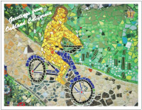 thumbnail photo of Maxwell Park bicycling mosaic