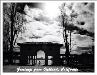 thumbnail photo of Lake Merritt pergola and bicyclist