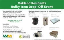 Amnesty Day - Bulky Waste Drop-Off Event for Oakland Residents