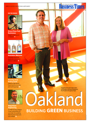 Cover of Green Oakland SF Business Times Insert 2012
