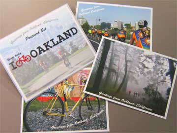 photo of I [BIKE] Oakland postcard set