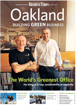 2013 Cover for Green Oakland Supplement in SF Business Times