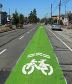 Oakland Innovates with Green Bikeway