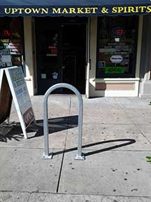 Photo of a bike rack