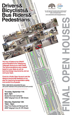 Image of the Open House Flyer for Telegraph Ave