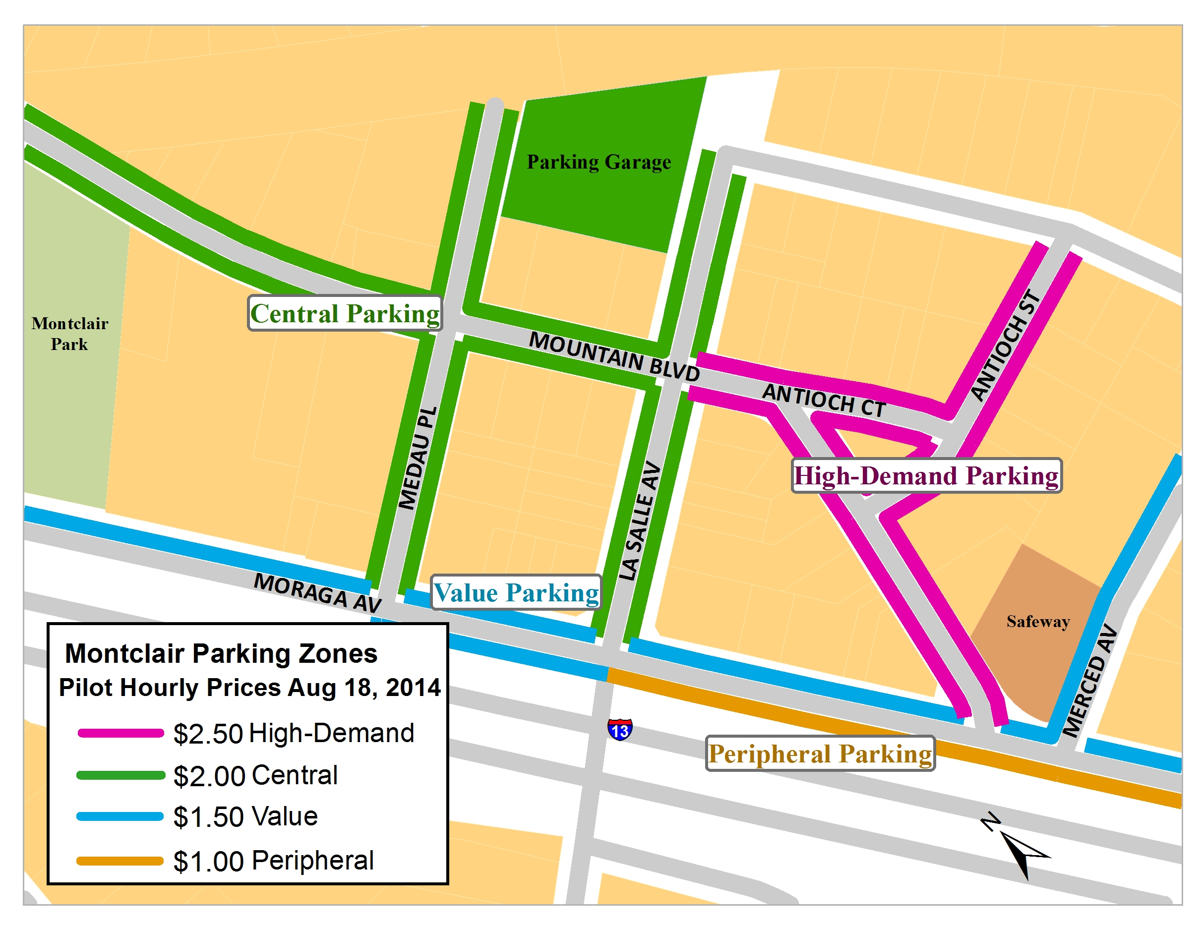 Montclair Parking map