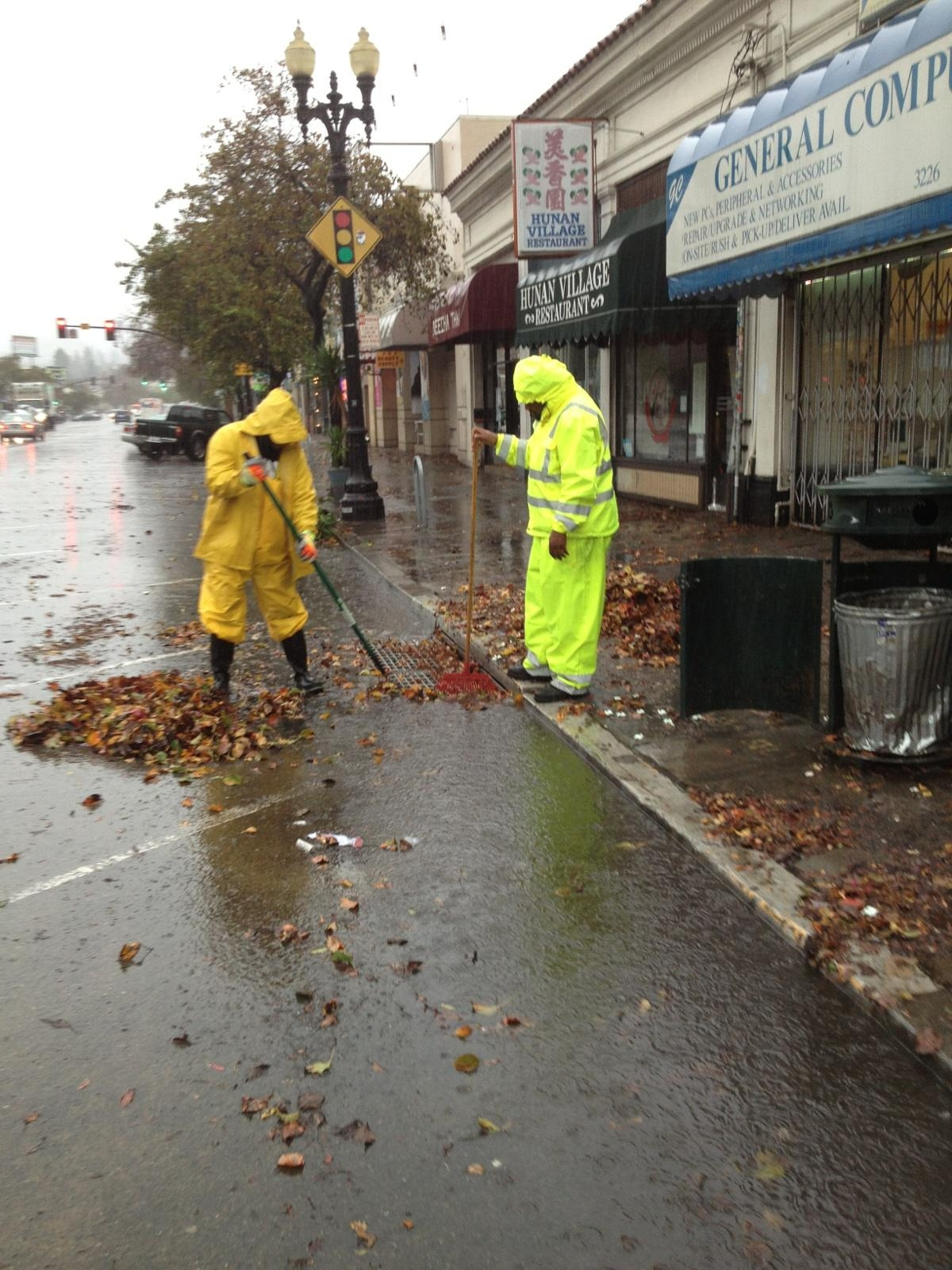 Public Works Crew Cleanup Flood