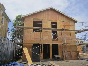 Photo of an Oakland home being renovated through one of the City's housing rehab programs