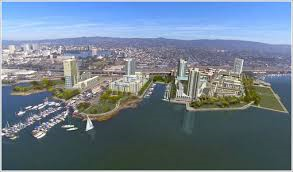 Aerial rendering of Brooklyn Basin as a completed project, Courtesy of Signature Development Group