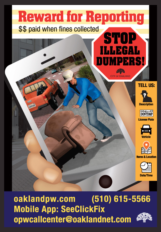 Illegal Dumping Poster English