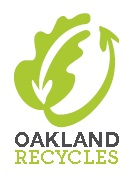 Oakland Recycles Vertical Logo Green