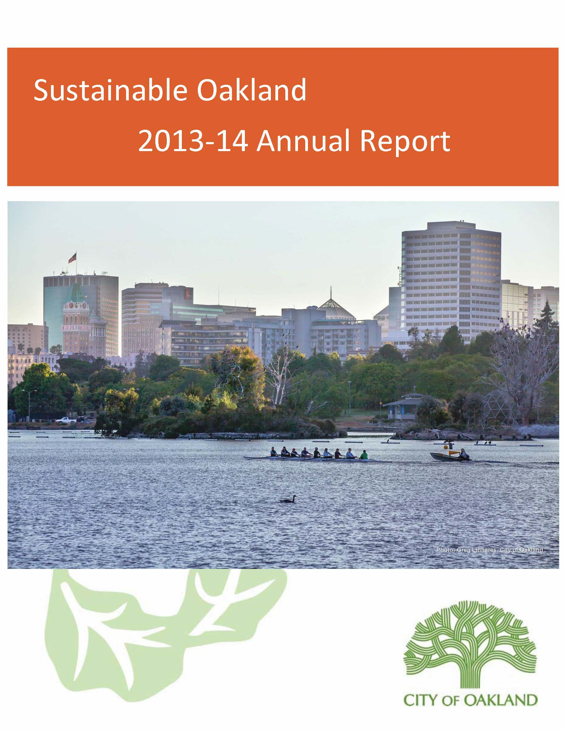 2013-14 Sustainable Oakland Report cover