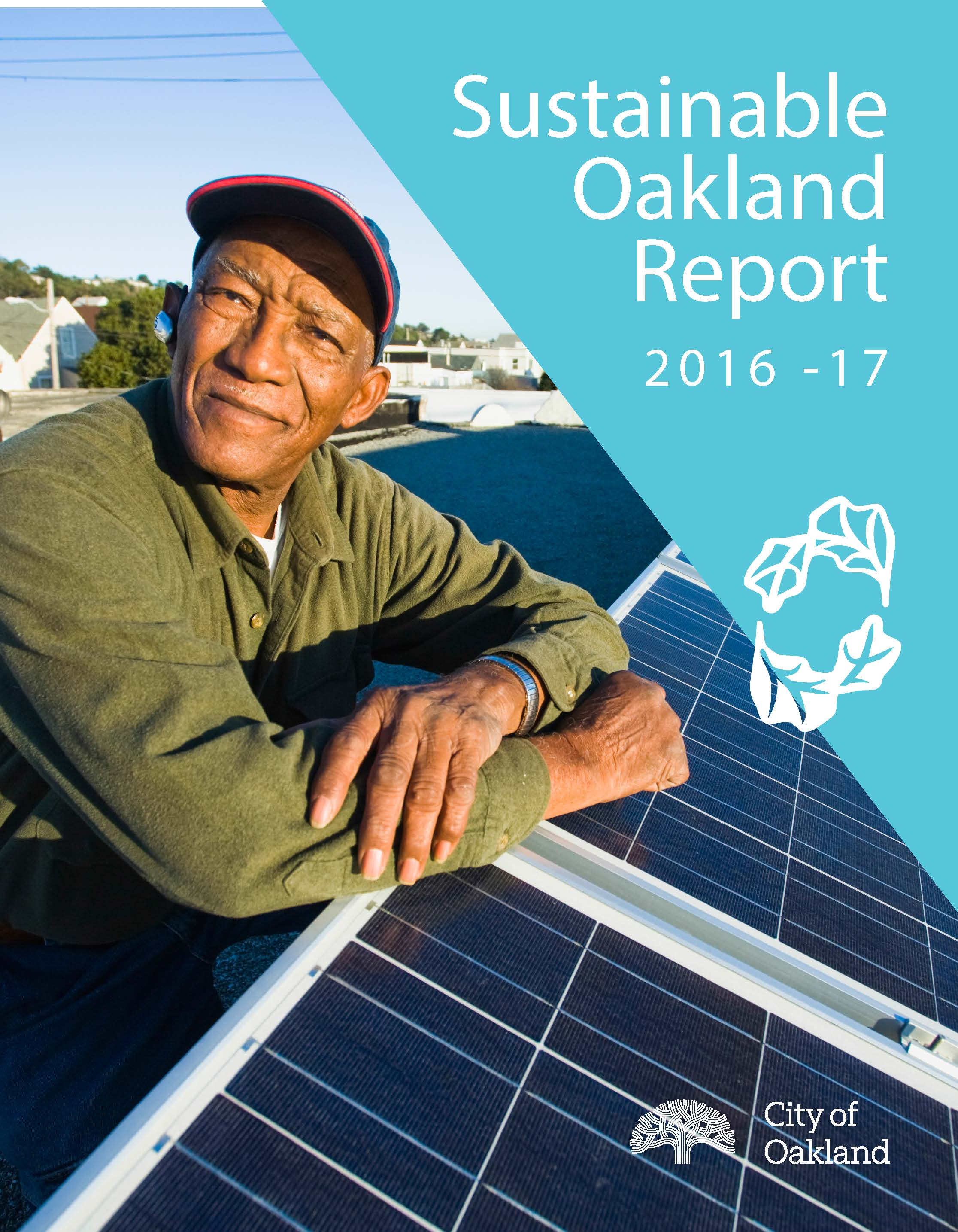 Cover Image - Sustainable Oakland 2016-17 Report