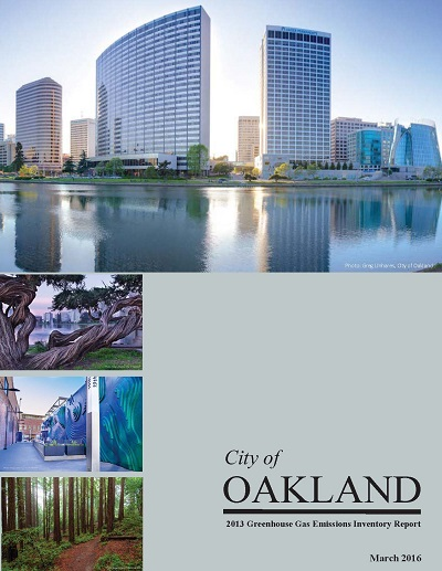 Image of Oakland's 2016 GHG Emissions Inventory Report Cover