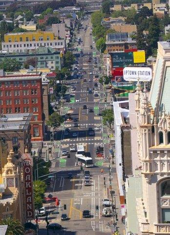 Photo of Telegraph Avenue from above by Joe Ferrera