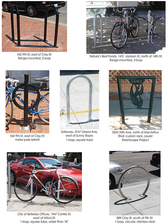 Oakland acceptable bike rack types photo