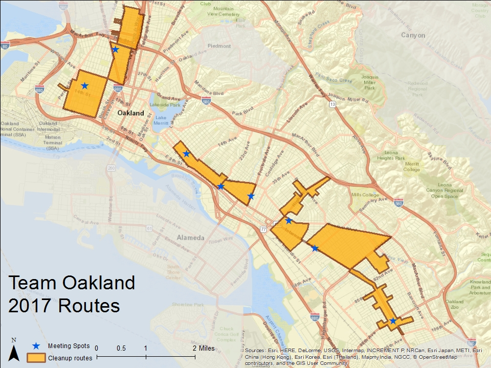 Team Oakland Team 2017 Route Map