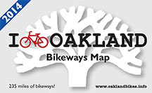 Oakland 2014 Bikeways Map cover image