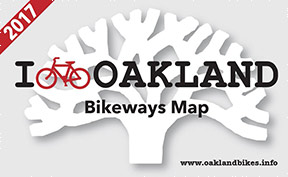 Oakland 2017 Bikeways Map cover image